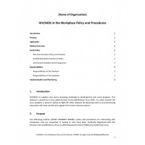 HIV/AIDS in the Workplace Policy and Procedures