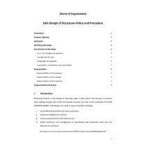 Safe Design of Structures Policy and Procedure