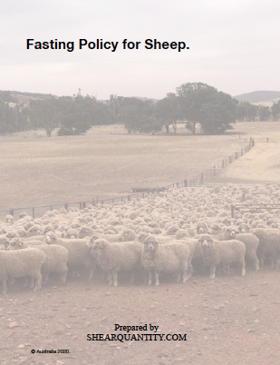 Fasting Policy for Sheep